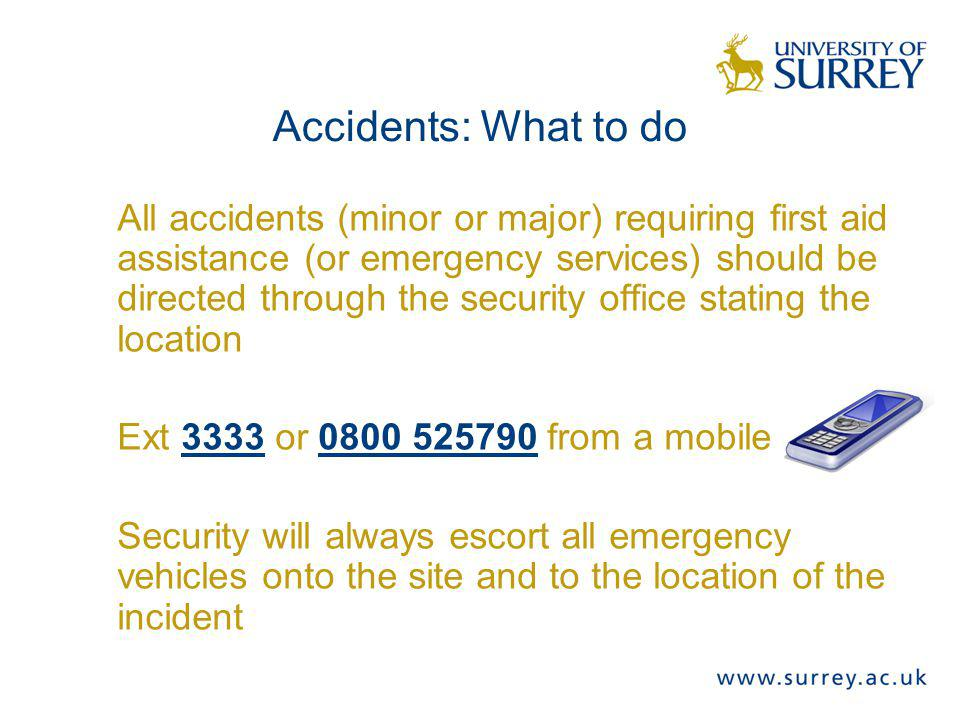Accidents: What to do