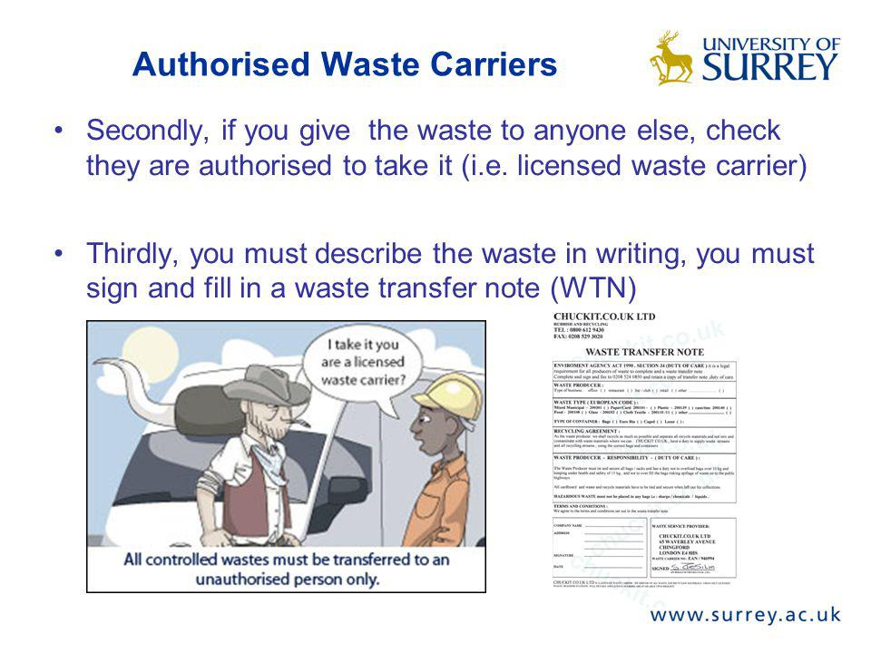 Authorised Waste Carriers