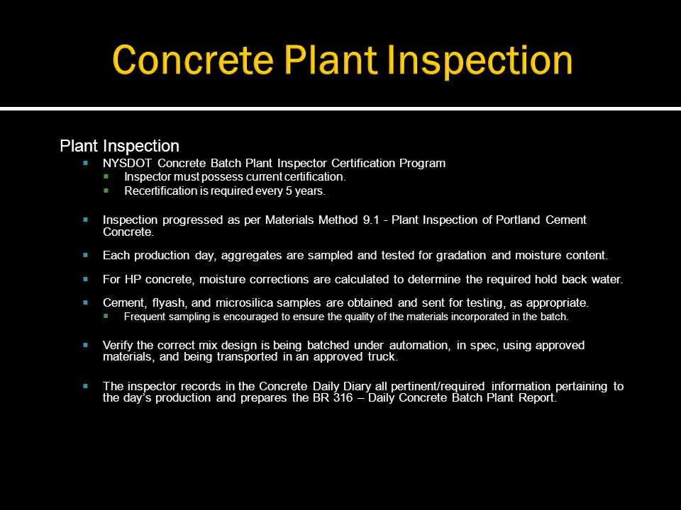Concrete Inspection Report : Construction materials ppt video online download
