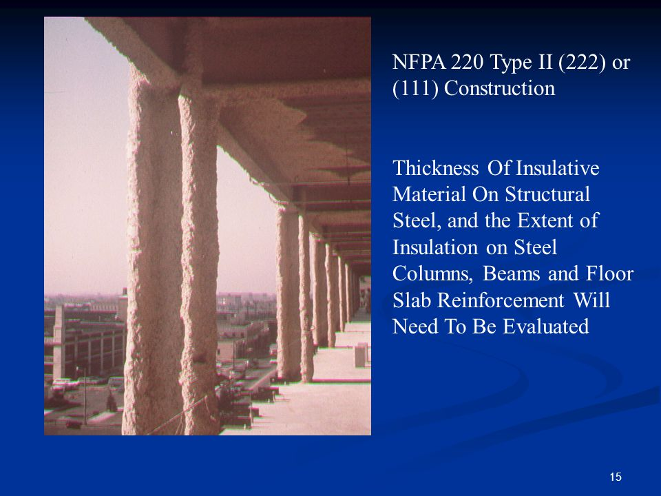 NFPA 220 Type II (222) or (111) Construction