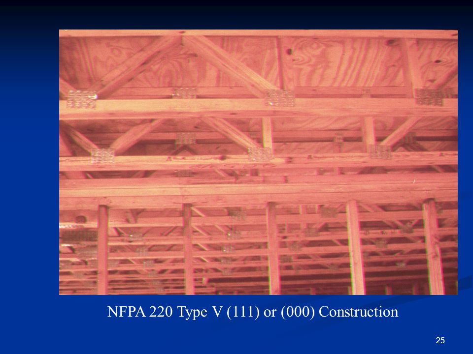 NFPA 220 Type V (111) or (000) Construction