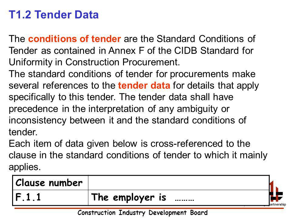 T1.2 Tender Data
