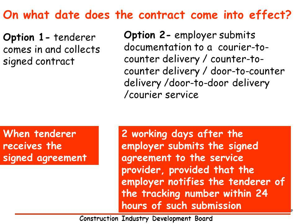 On what date does the contract come into effect