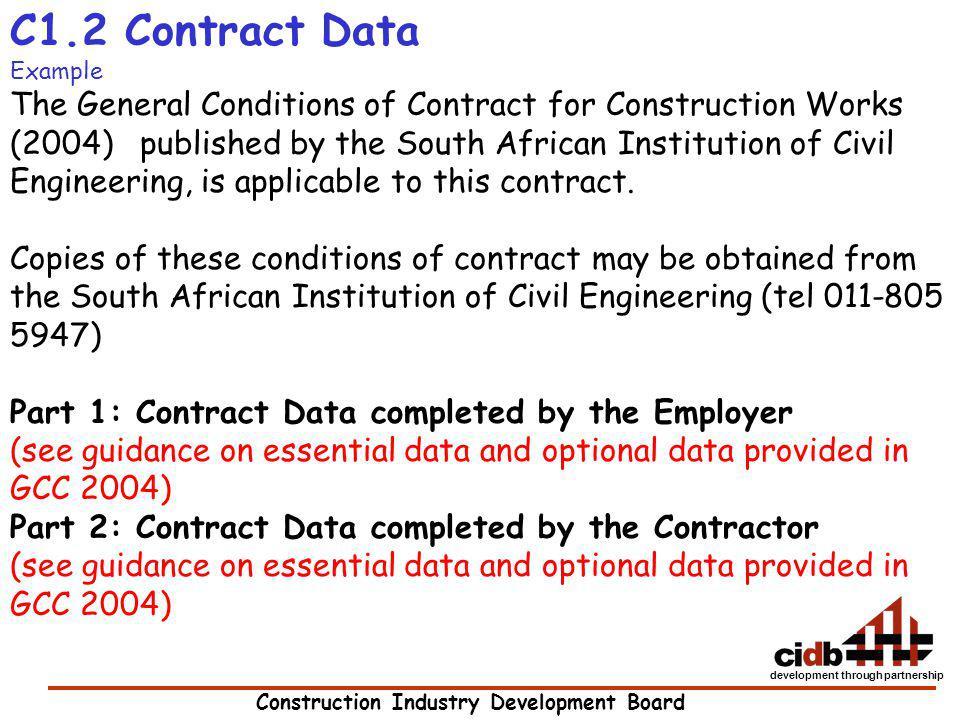 C1.2 Contract Data Example.