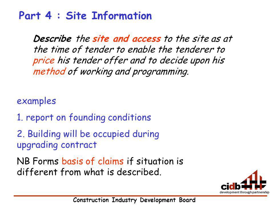 Part 4 : Site Information