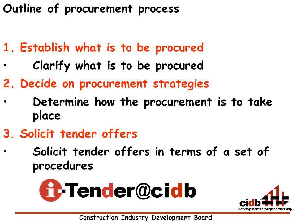 @cidb Outline of procurement process