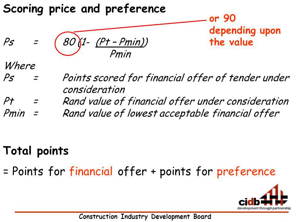 Scoring price and preference