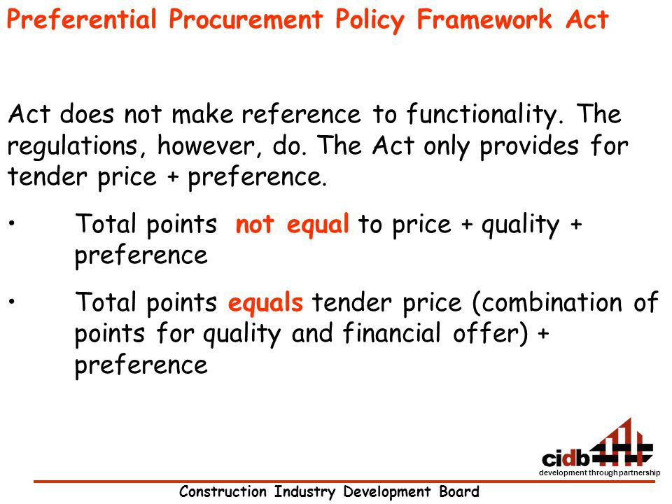 Preferential Procurement Policy Framework Act