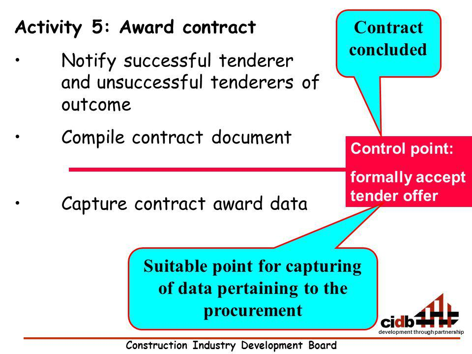 Suitable point for capturing of data pertaining to the procurement