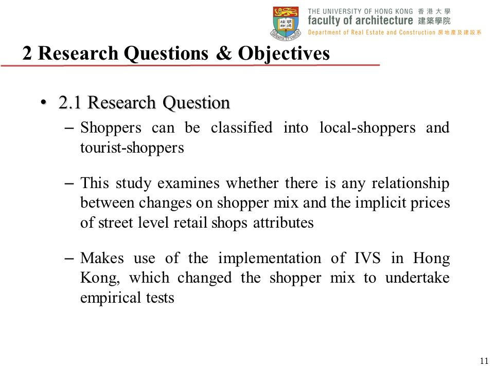 2 Research Questions & Objectives
