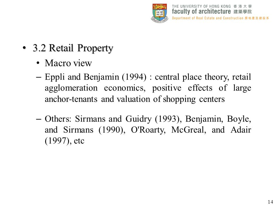 3.2 Retail Property Macro view