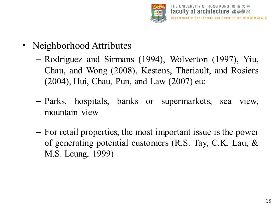 Neighborhood Attributes