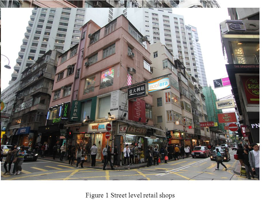 Figure 1 Street level retail shops