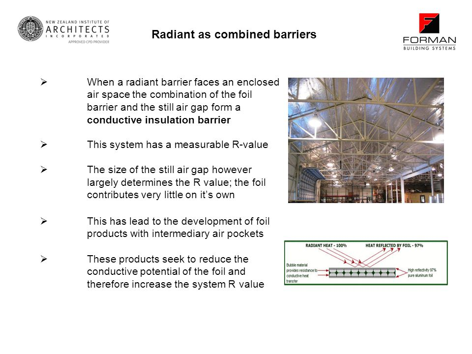 Radiant as combined barriers