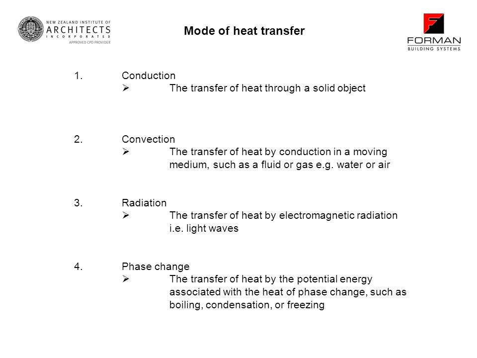 Mode of heat transfer 1. Conduction