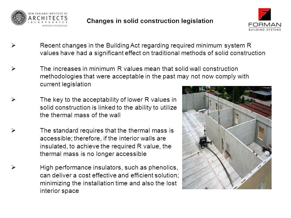 Changes in solid construction legislation