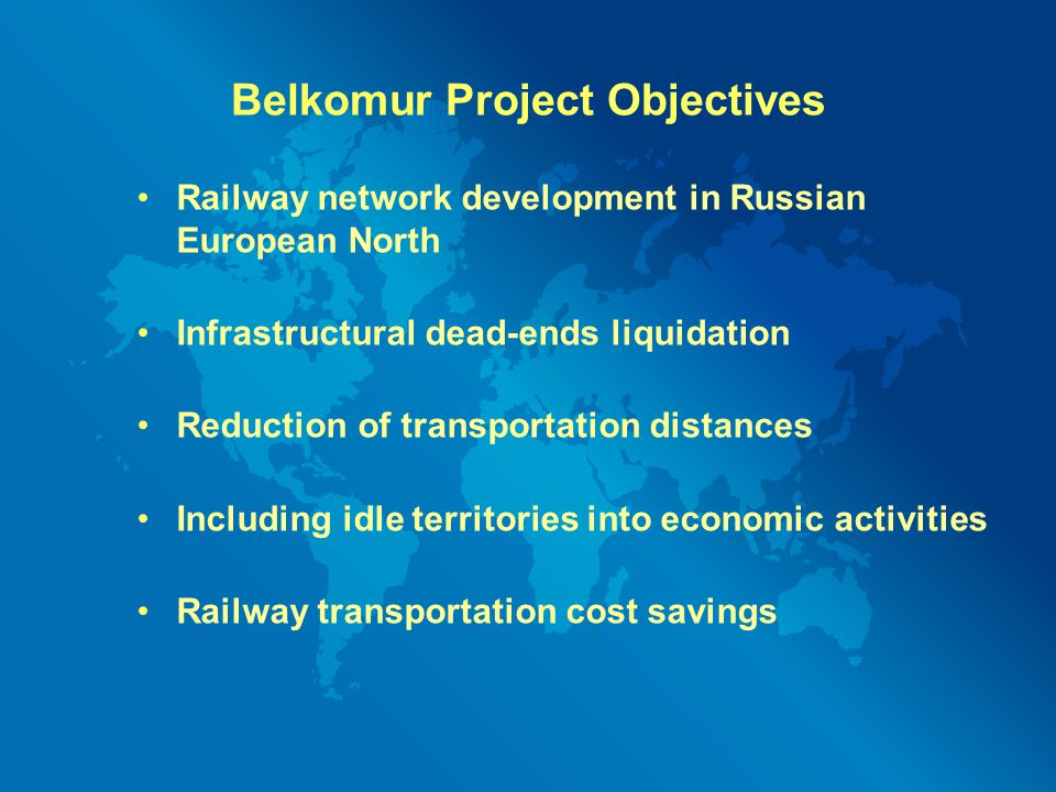 Belkomur Project Objectives