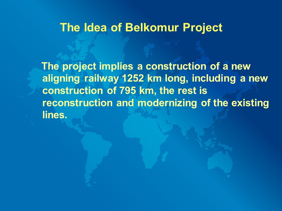 The Idea of Belkomur Project