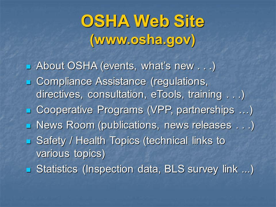 OSHA Web Site (www.osha.gov)