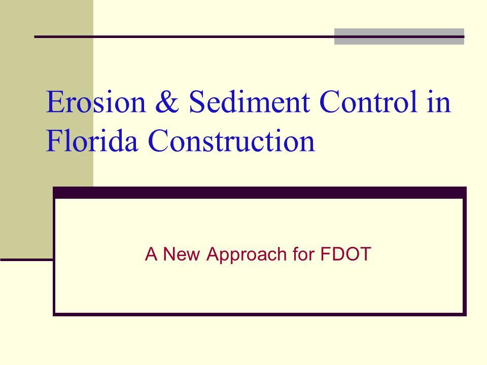 Erosion & Sediment Control in Florida Construction