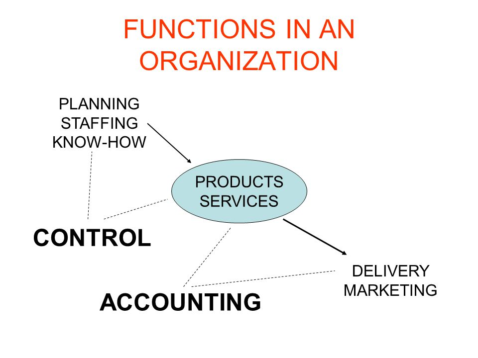 FUNCTIONS IN AN ORGANIZATION