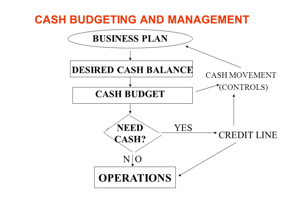 CASH BUDGETING AND MANAGEMENT