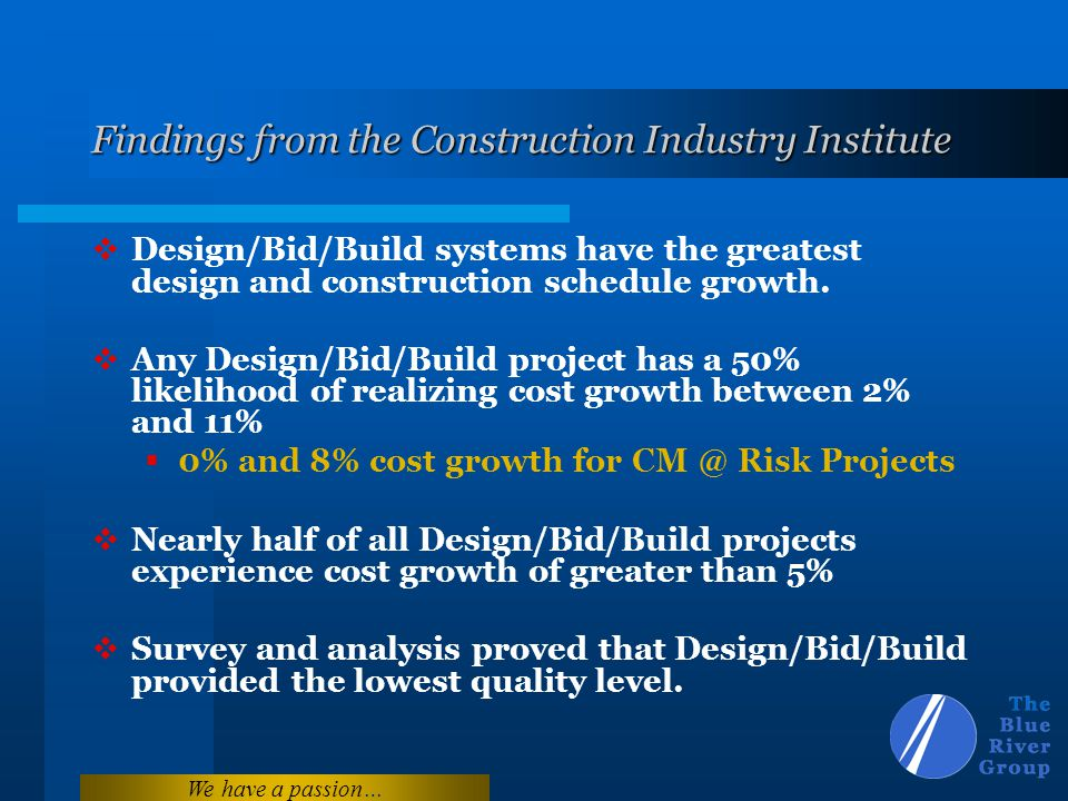 Findings from the Construction Industry Institute