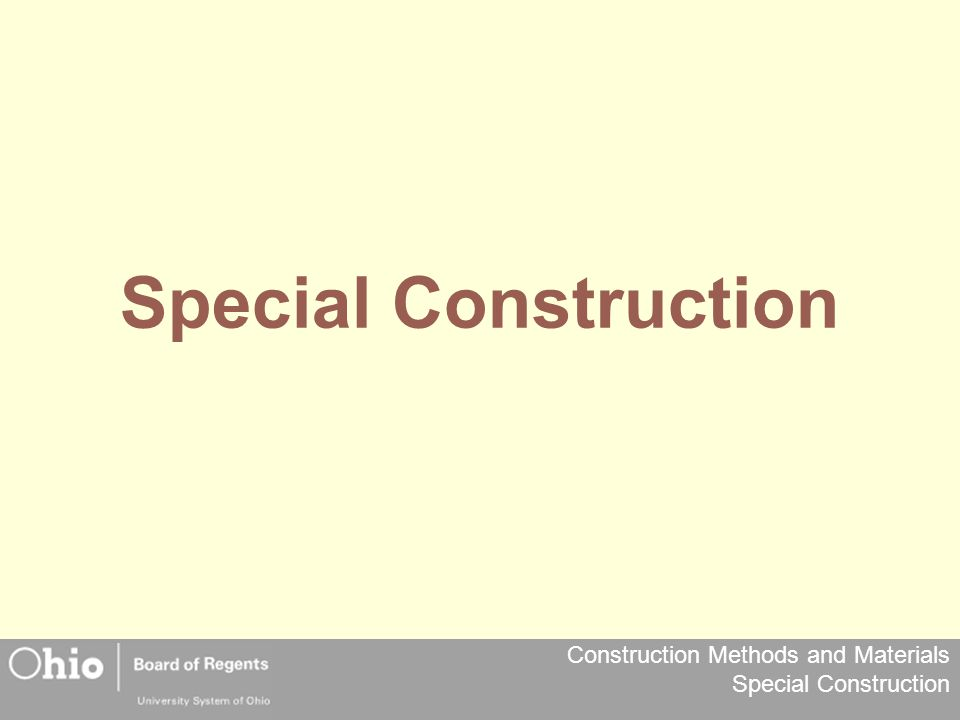 Special Construction