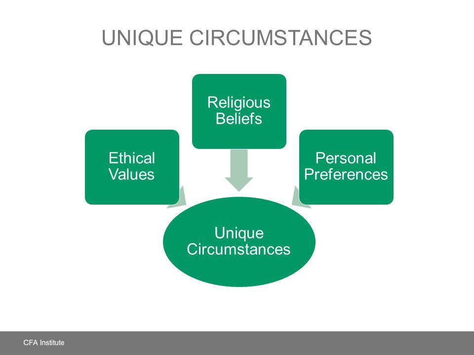 Unique Circumstances Unique Circumstances Ethical Values