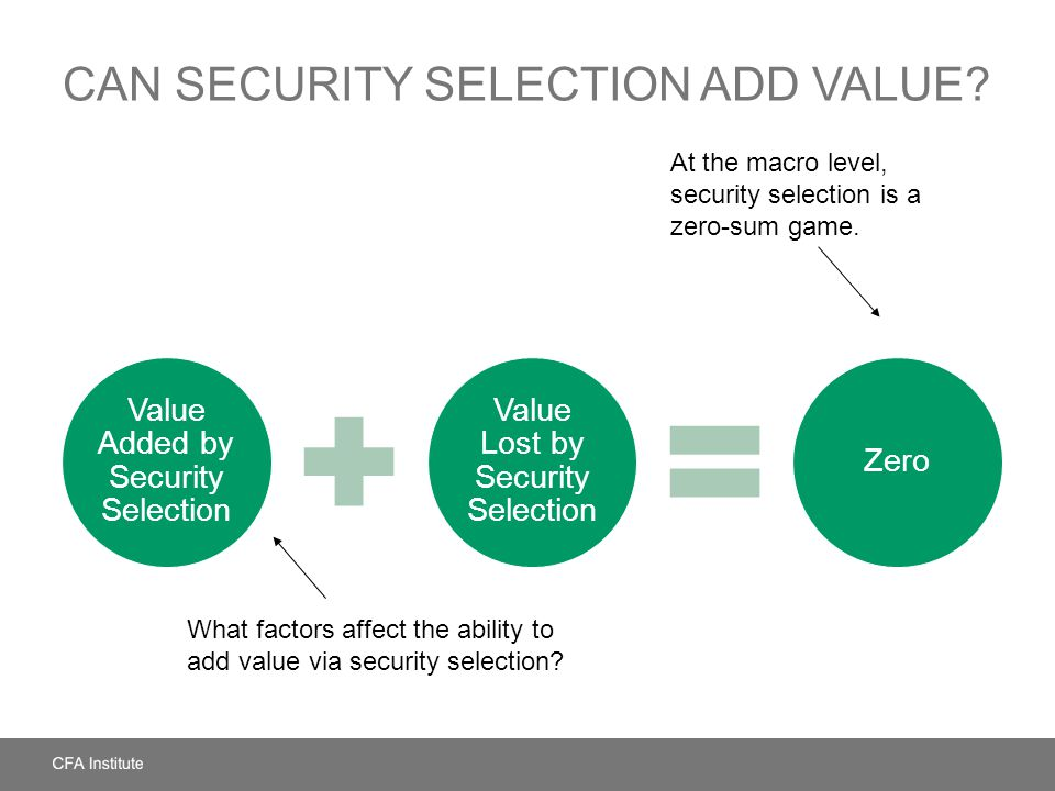Can Security Selection Add Value