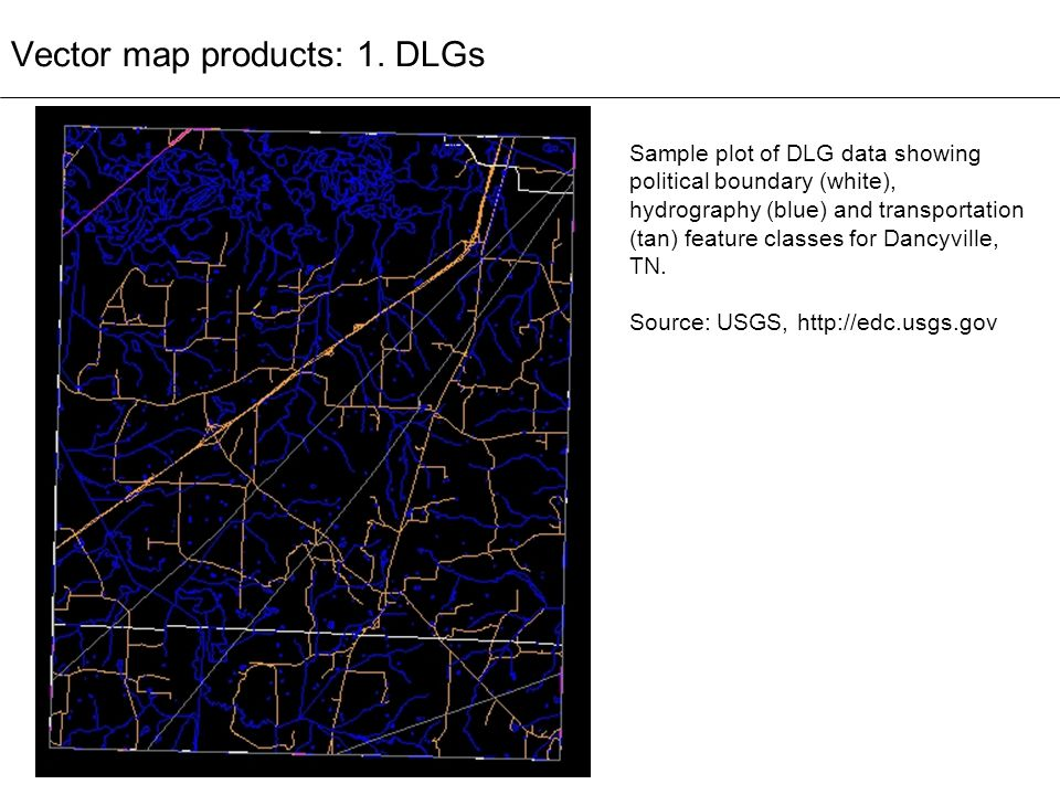 Vector map products: 1. DLGs