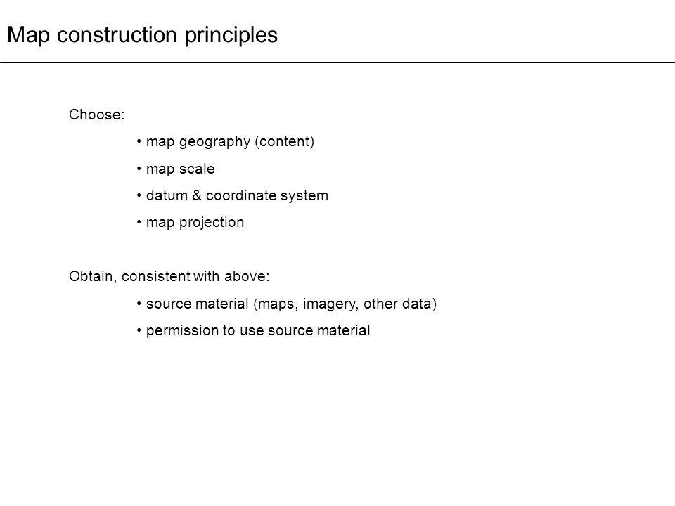 Map construction principles