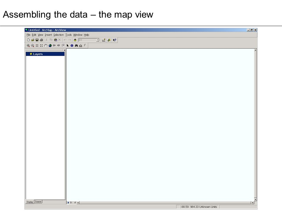 Assembling the data – the map view