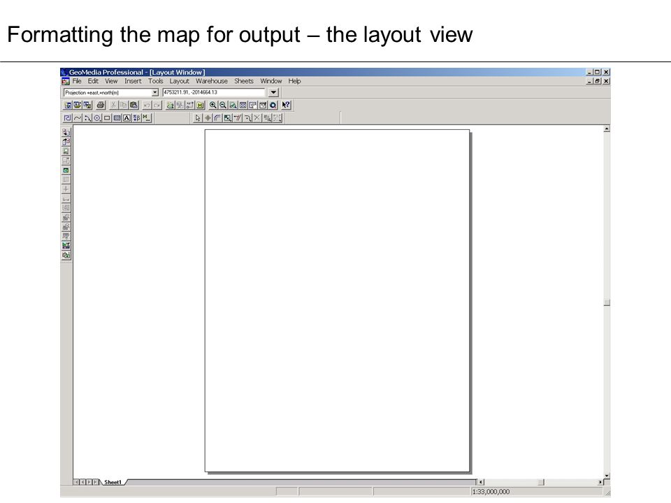 Formatting the map for output – the layout view