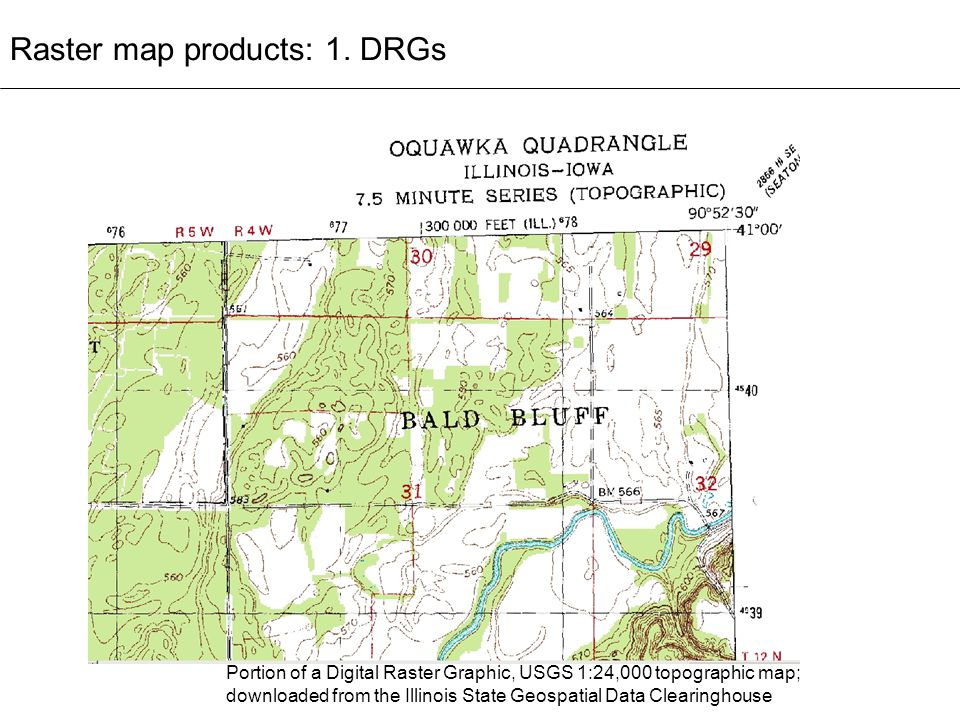 Raster map products: 1. DRGs