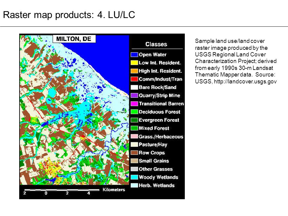 Raster map products: 4. LU/LC