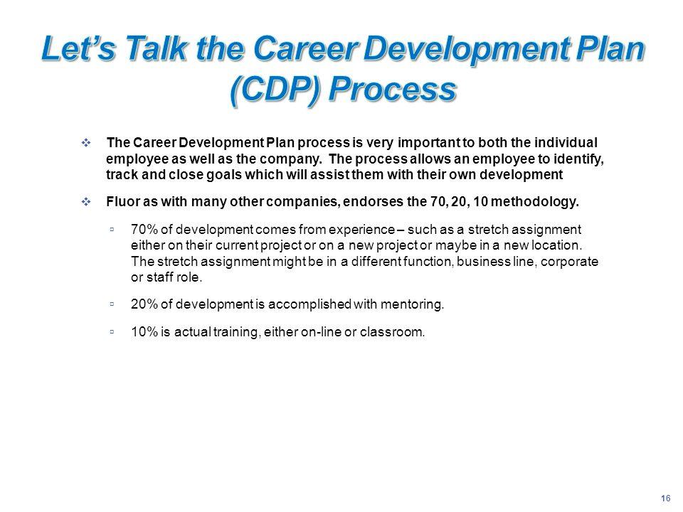 Let's Talk the Career Development Plan (CDP) Process