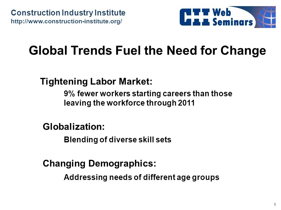 Global Trends Fuel the Need for Change
