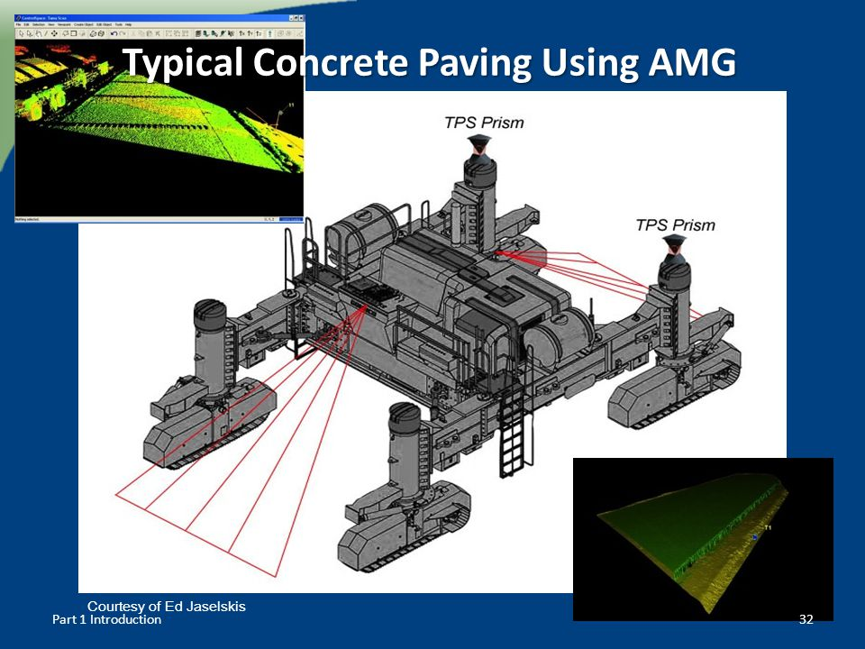 Typical Concrete Paving Using AMG