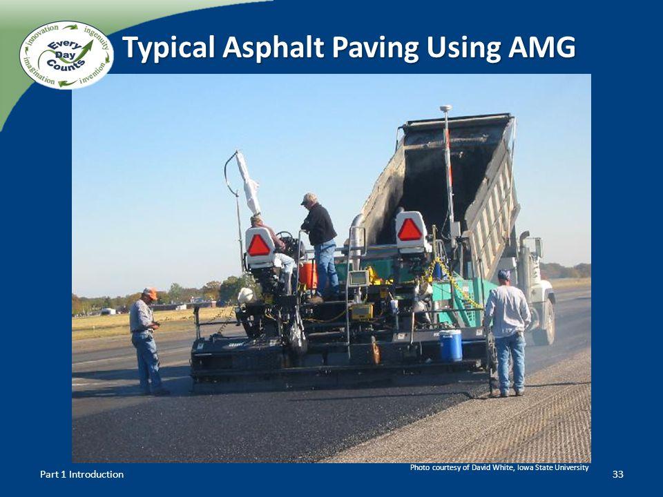 Typical Asphalt Paving Using AMG