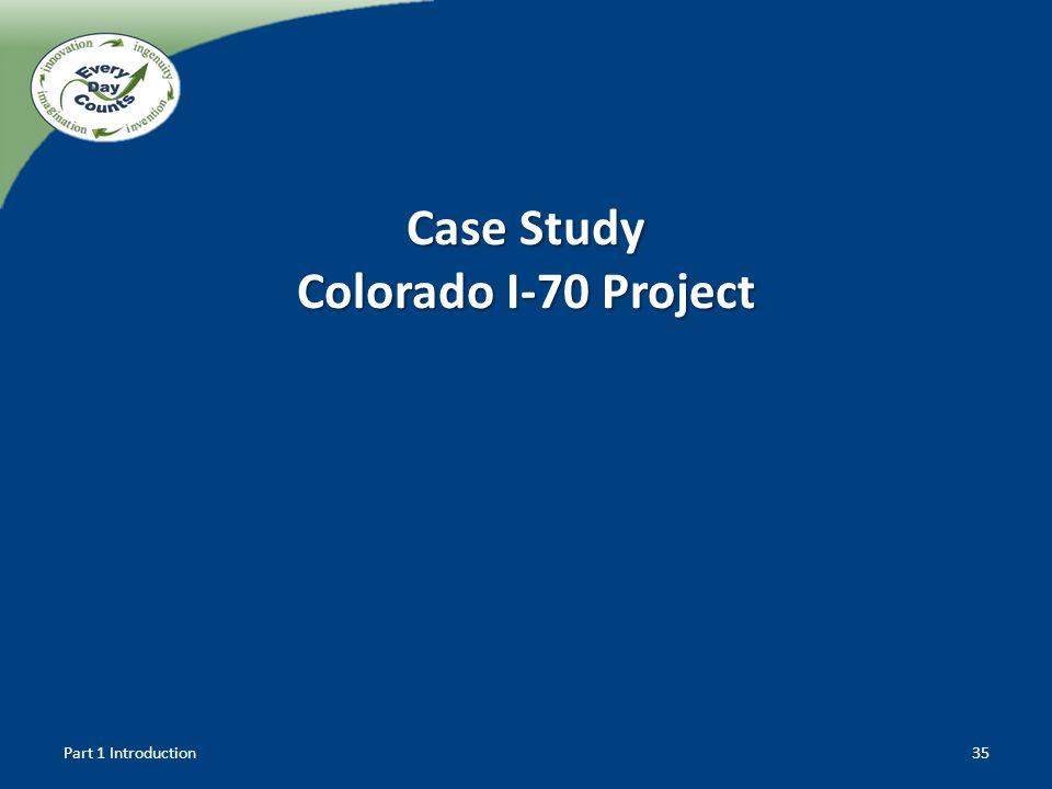 Case Study Colorado I-70 Project