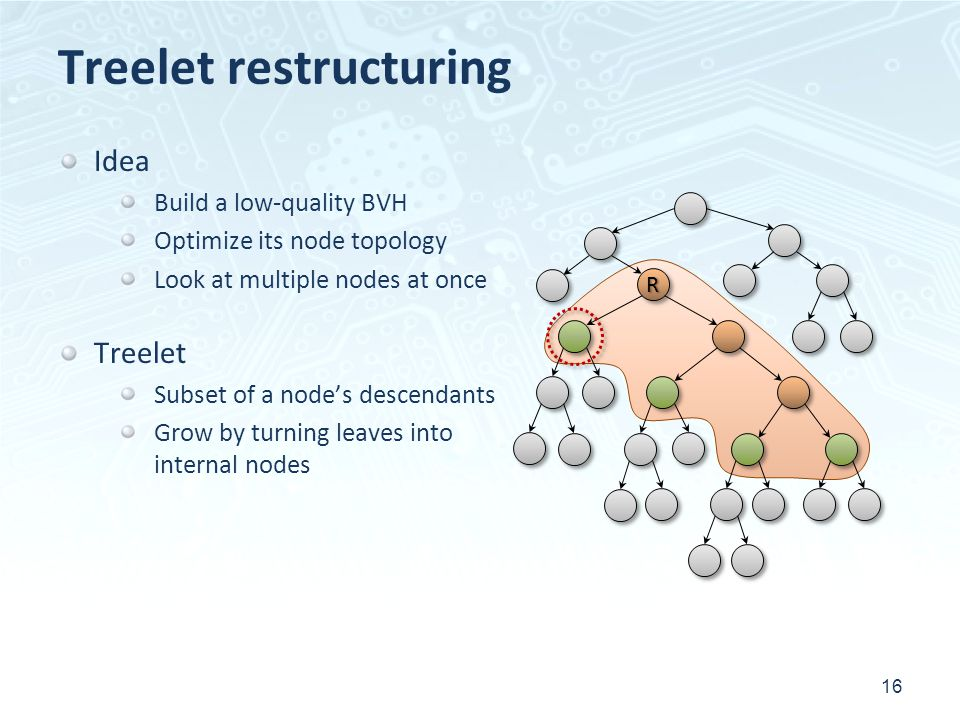 Treelet restructuring