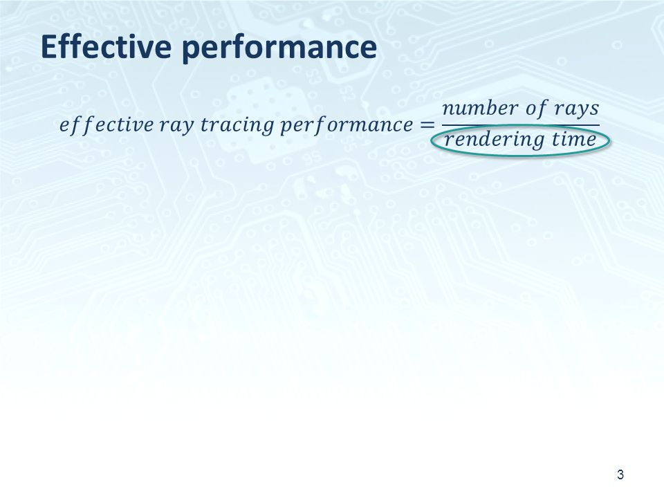 Effective performance