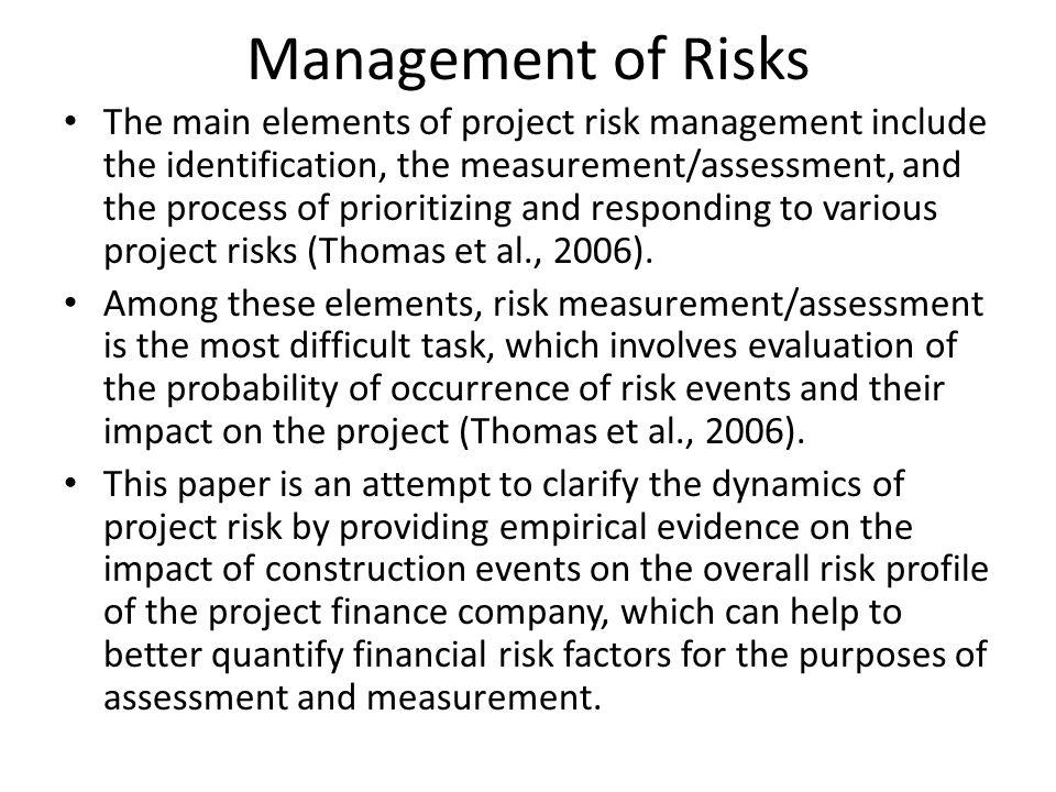 Management of Risks
