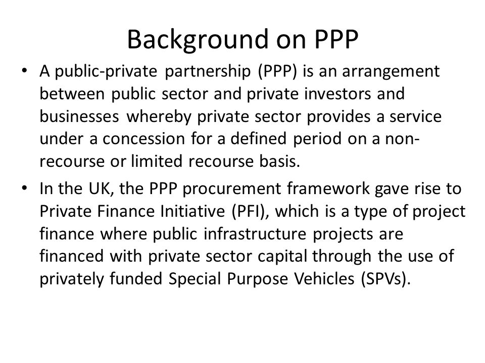 Background on PPP