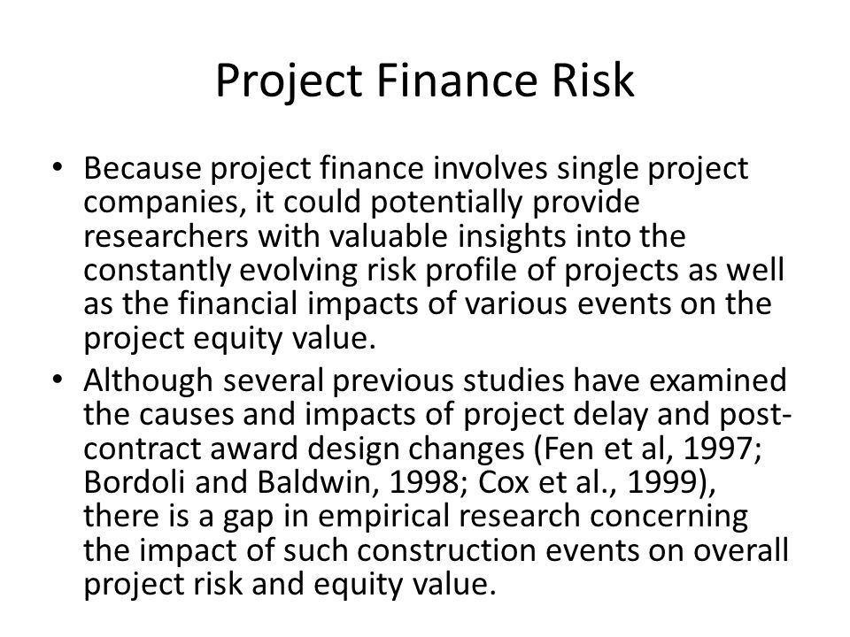Project Finance Risk