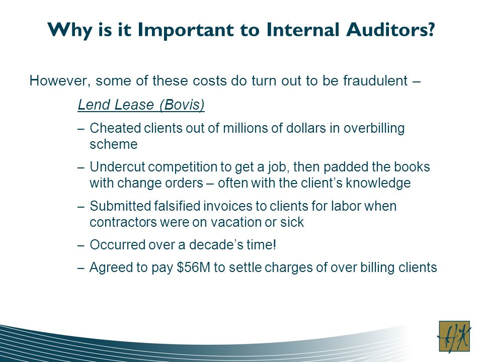 Why is it Important to Internal Auditors