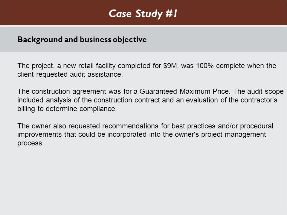Case Study #1 Case Study #1 Background and business objective