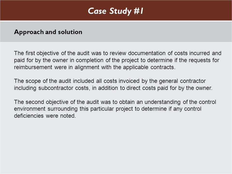 Case Study #1 Case Study #1 Approach and solution