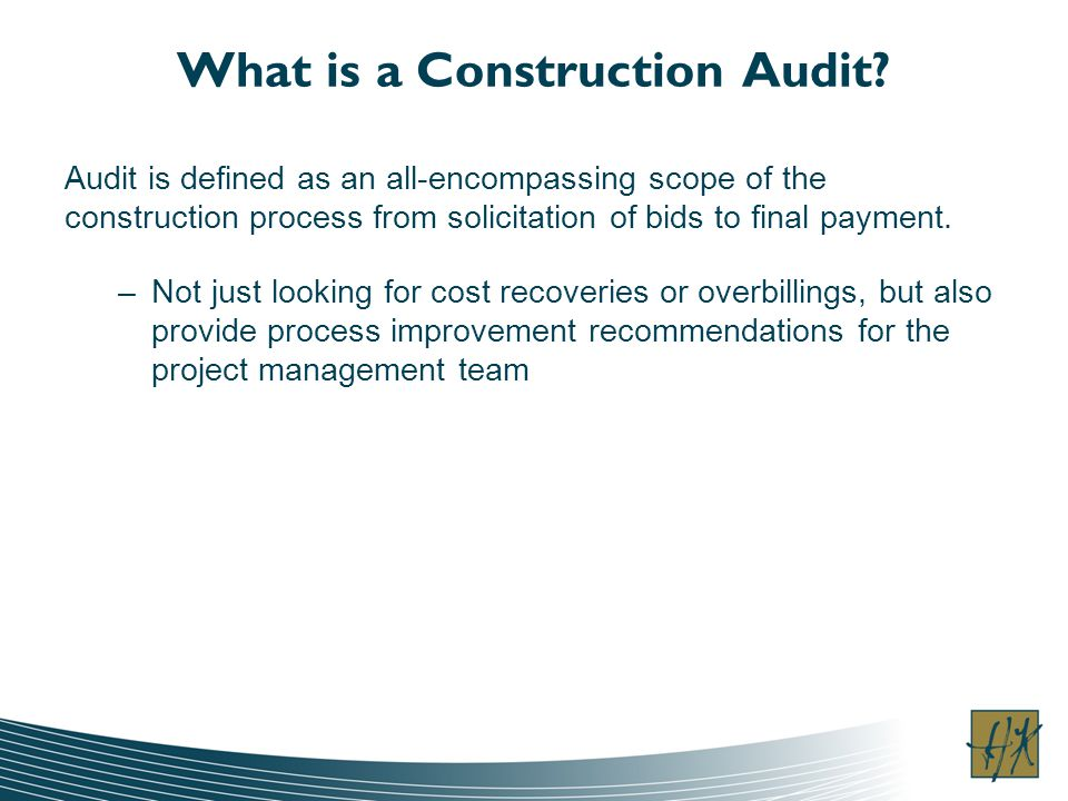 What is a Construction Audit